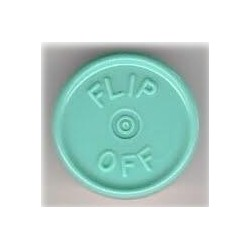 20mm Flip Off Vial Seals, Faded Turquoise Blue, Bag of 1000