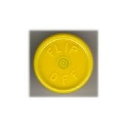20mm Flip Off Vial Seals, Yellow, Bag of 1000