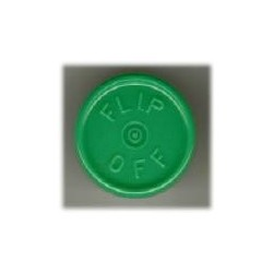 20mm Flip Off Vial Seals, Green, Bag of 1000