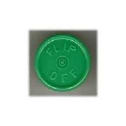 20mm Flip Off Vial Seals, Green, Pack of 100