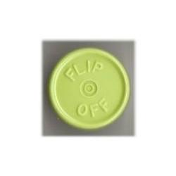 20mm Flip Off Vial Seals, Light Faded Green, Bag of 1000