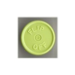 20mm Flip Off Vial Seals, Light Faded Green, Pack of 100