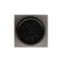 20mm Flip Off Vial Seals, Black, Bag of 1000