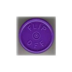 20mm Flip Off Vial Seals, Purple, Bag of 1000