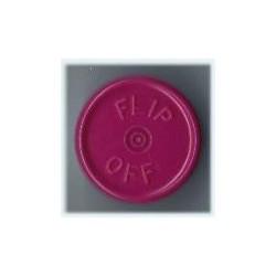 20mm Flip Off Vial Seals, Burgundy Violet, Pack of 100