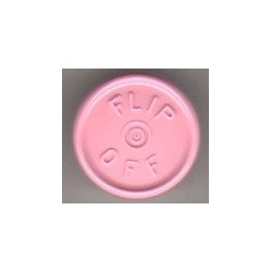 20mm Flip Off Vial Seals, Gloss Pink, Bag of 1000