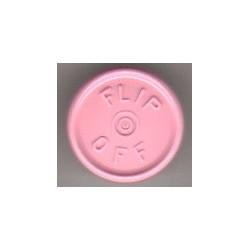 20mm Flip Off Vial Seals, Gloss Pink, Pack of 100