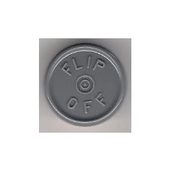 20mm Flip Off Vial Seals, Dark Gray, Pack of 100