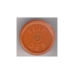 20mm Flip Off Vial Seals, Rust Orange, Bag of 1000