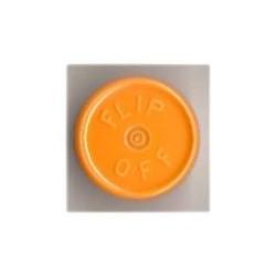 20mm Flip Off Vial Seals, Faded Light Orange, Bag of 1000