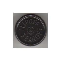 20mm Plain Vial Flip Caps, Green, Bag 1000
