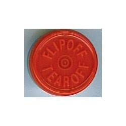 20mm Plain Vial Flip Caps, Lemon Lime, Pk 100