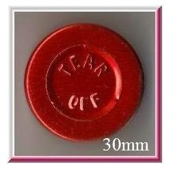 20mm Plain Vial Flip Caps, Orange, Bag 1000