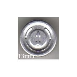 13mm Plain Flip Caps, Light Blue, Pk 100