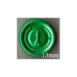 13mm Plain Flip Caps, Fuchsia Pink, Pk 100