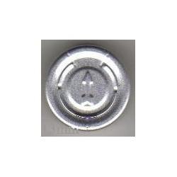 13mm Center Tear Vial Seals, Green, Bag of 1000