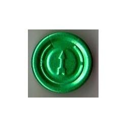 20mm Flip Off-Tear Off Vial Seals, Green, Pack of 100